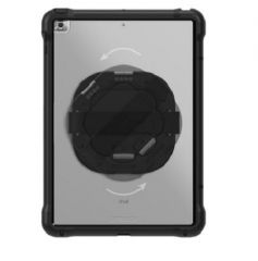 OtterBox Apple iPad 10.2 (7th, 8th, and 9th gen) Unlimited Series Case with Kickstand and Hand Strap - Black Crystal (Clear/Black)